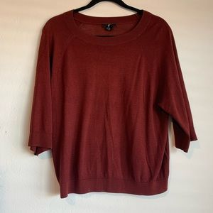 ✨H&M Auburn Half Sleeve Light Pullover Sweater